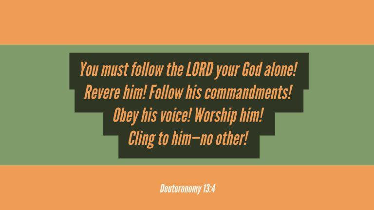 Verse Image for Deuteronomy 13:4 - 16x9