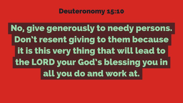 Verse Image for Deuteronomy 15:10 - 16x9