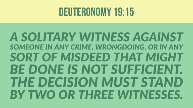 Verse Image for Deuteronomy 19:15 - 16x9