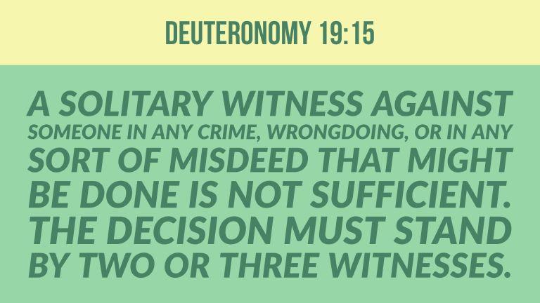 Verse Image for Deuteronomy 19:15 - 16x9