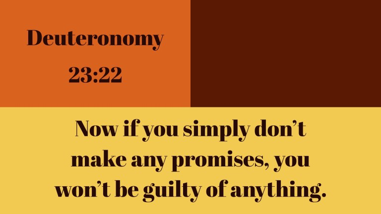 Verse Image for Deuteronomy 23:22 - 16x9