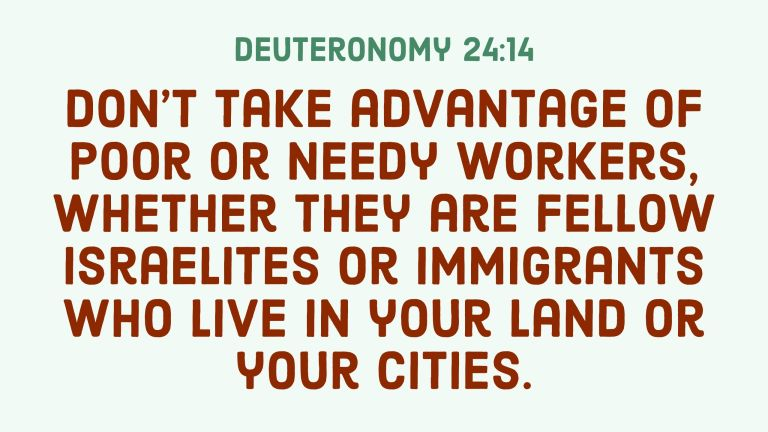 Verse Image for Deuteronomy 24:14 - 16x9