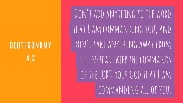 Verse Image for Deuteronomy 4:2 - 16x9