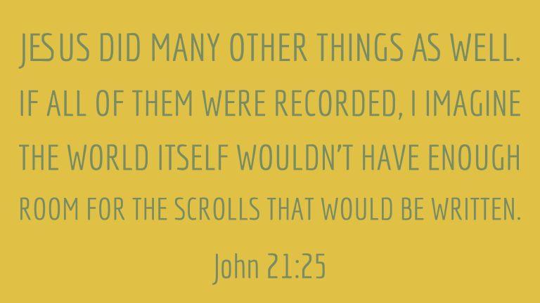 Verse Image for John 21:25 - 16x9