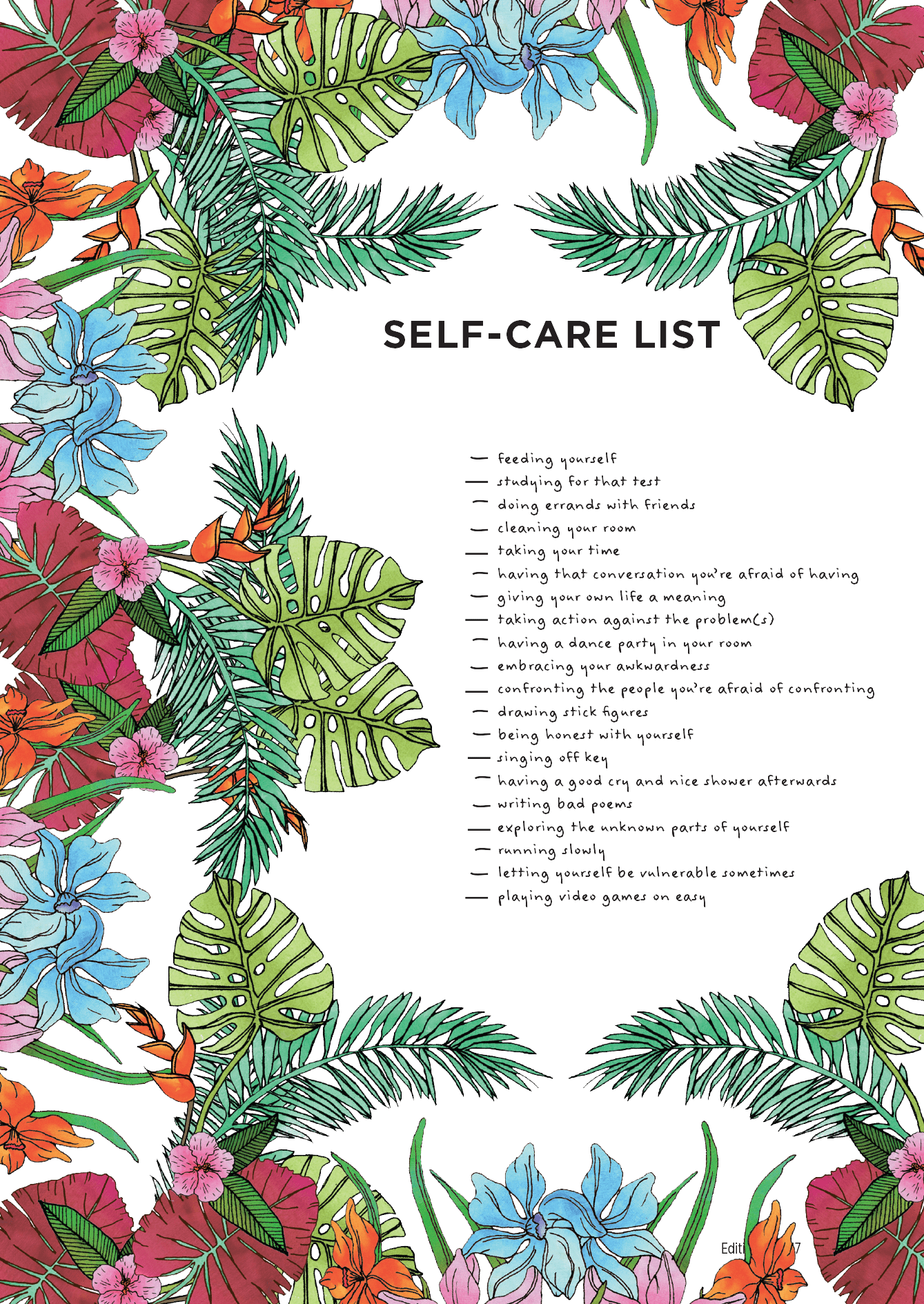 Self Care List