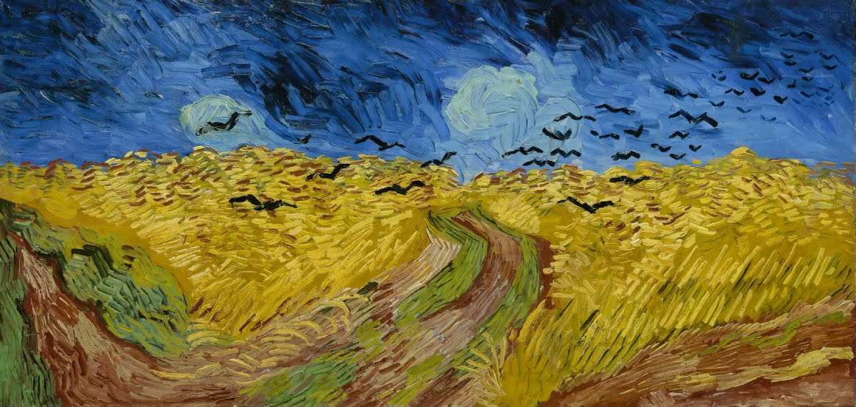 Wheatfield with Crows by Vincent van-Gogh