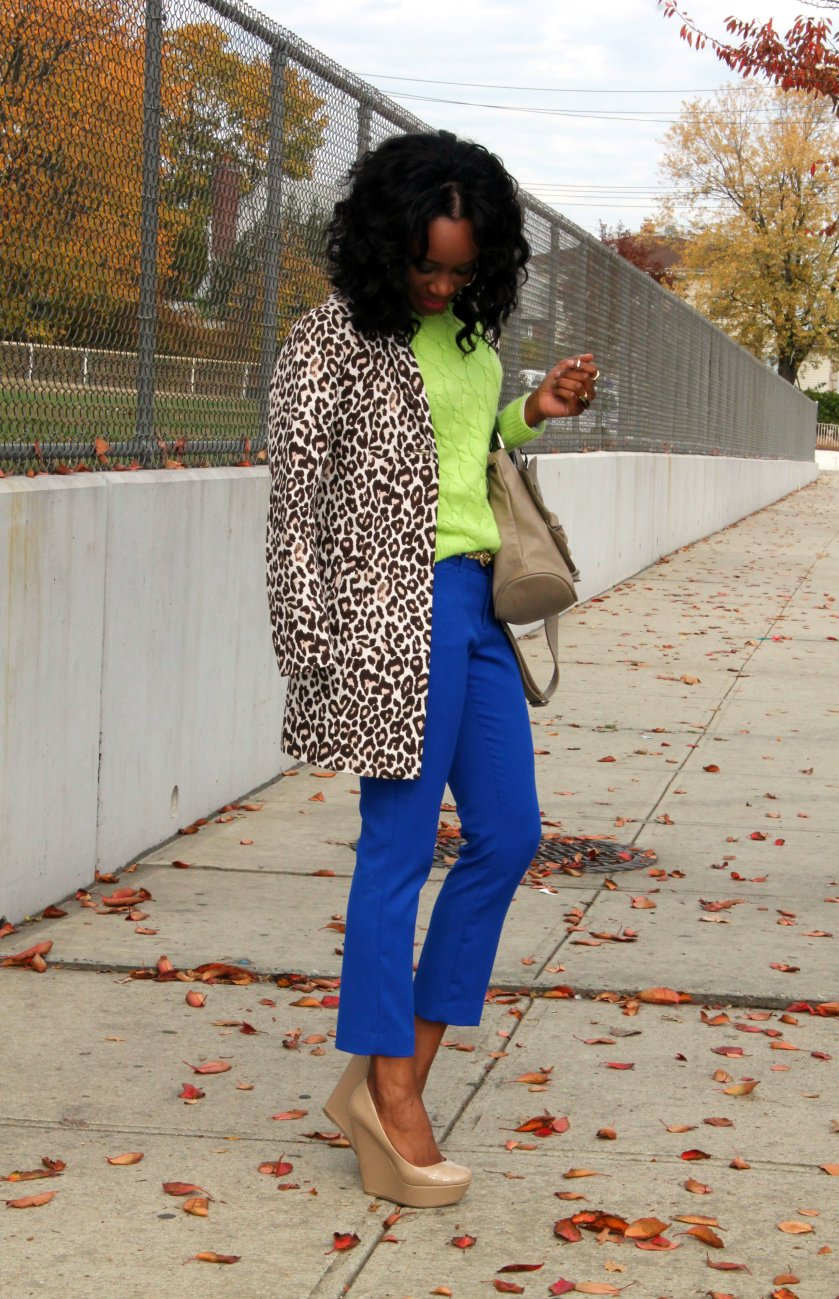 layering for autumn / fall with bright colors