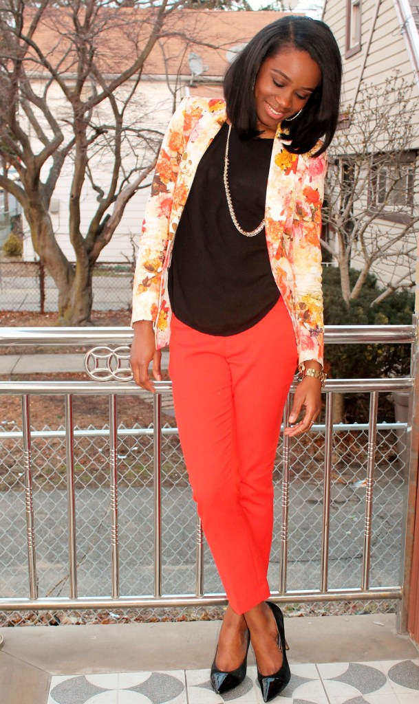 Floral blazer + ankle trousers (7)