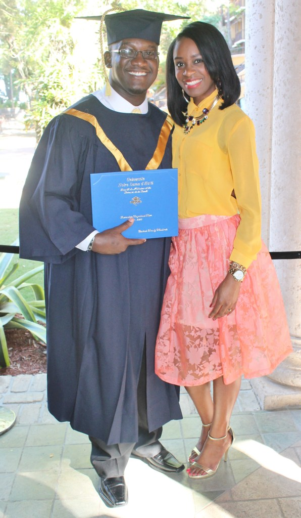 With the graduate