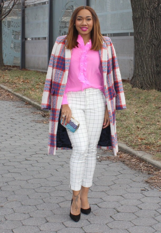 Zara checkered coat (1)