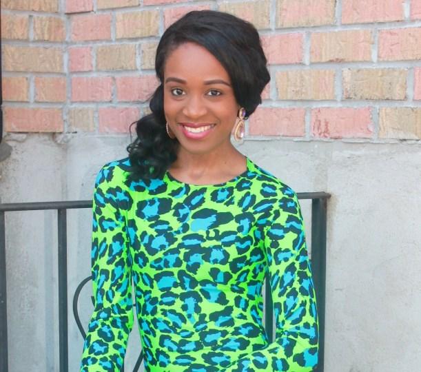 Green & blue leopard dress (2)