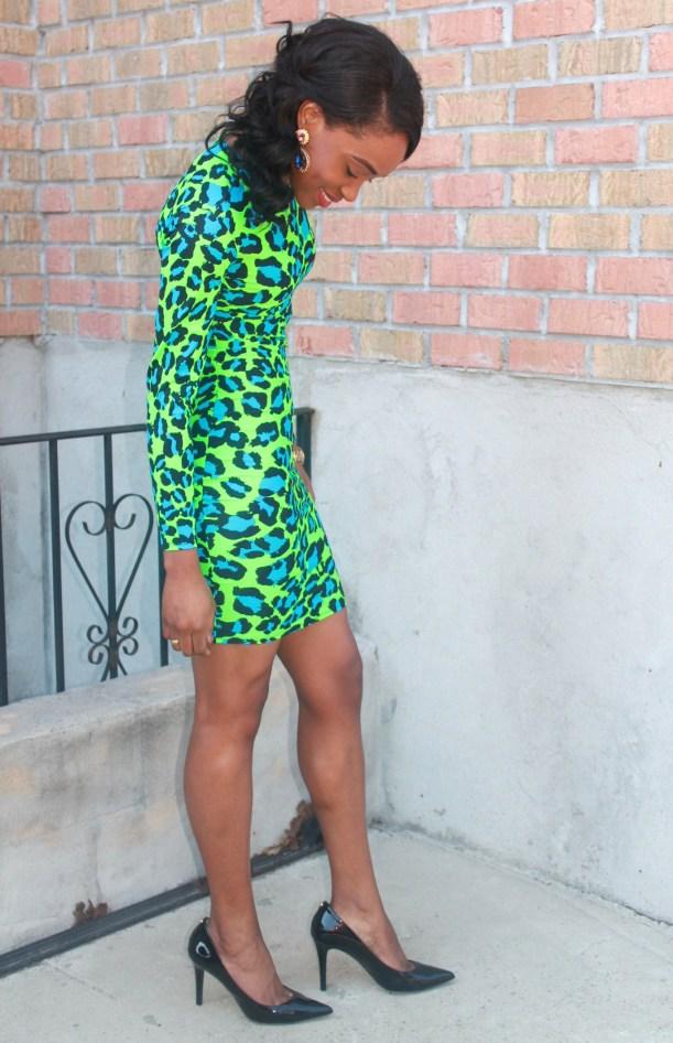 Green & blue leopard dress (5)