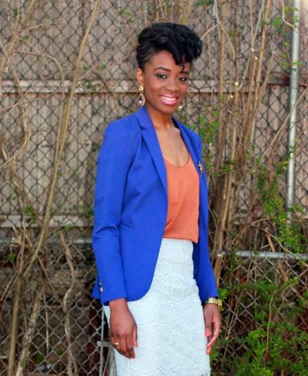 Zara lace skirt + fitted blazer (10)
