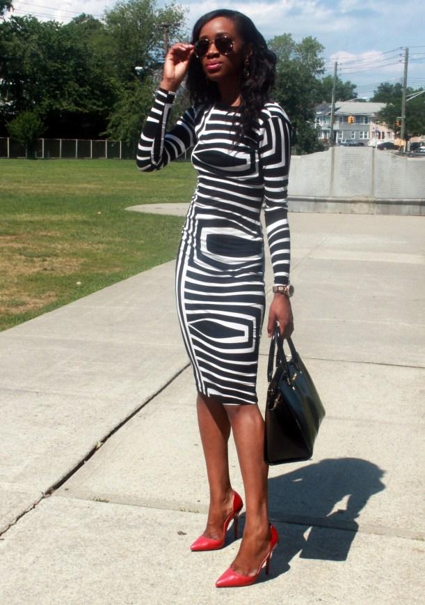 Asos black and white backless midi dress (8)