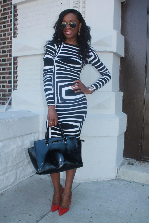 Asos black and white backless midi dress (9)