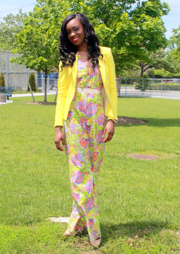 Floral jumpsuit + fitted blazer (5)