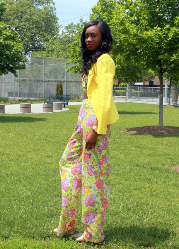 Floral jumpsuit + fitted blazer (7)