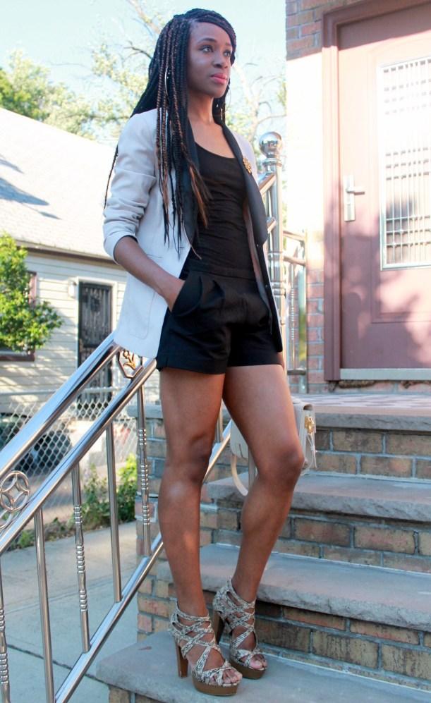 Black JCrew shorts + H&M oversized blazer (12)