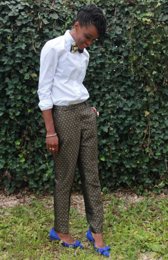 Printed trousers & bedazzled tie (10)
