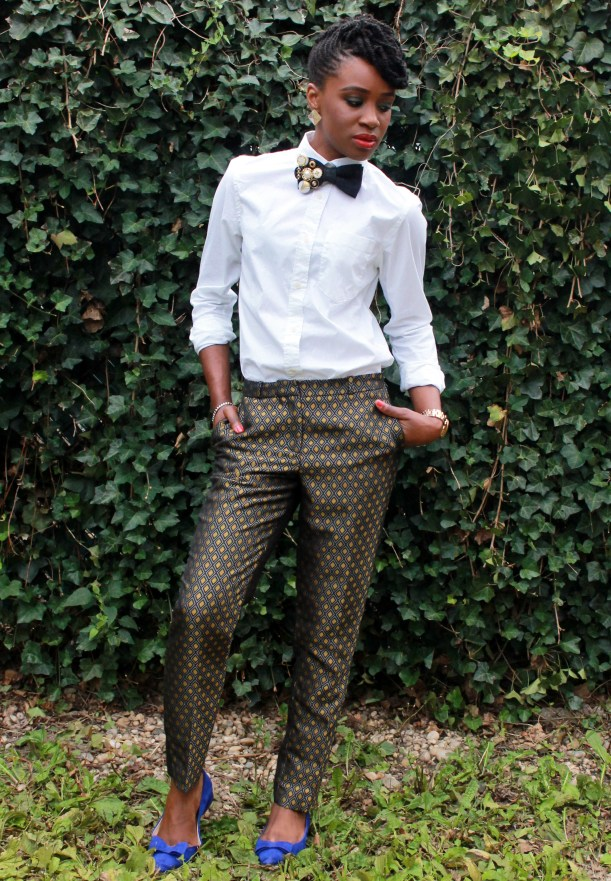 Printed trousers & bedazzled tie (14)