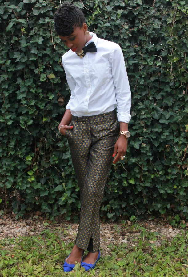 Printed trousers & bedazzled tie (7)