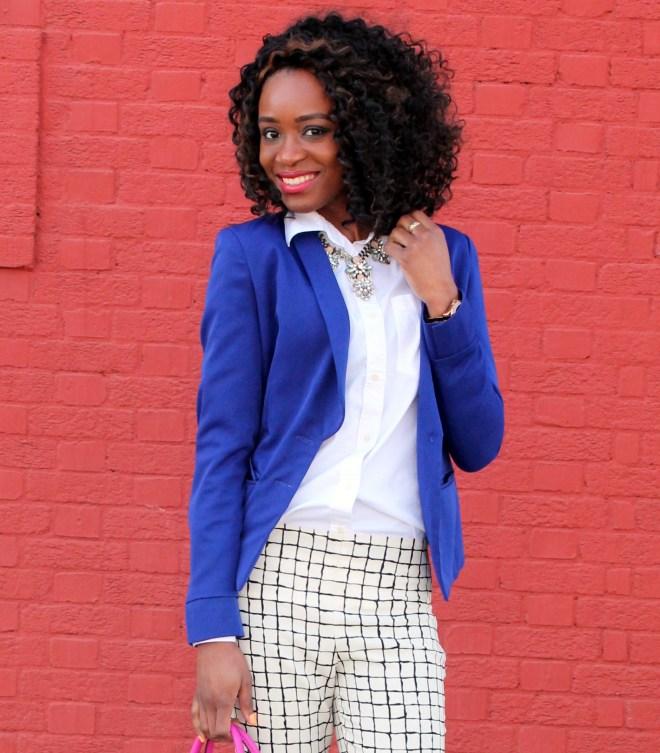 Wide leg trousers + blazer (1)