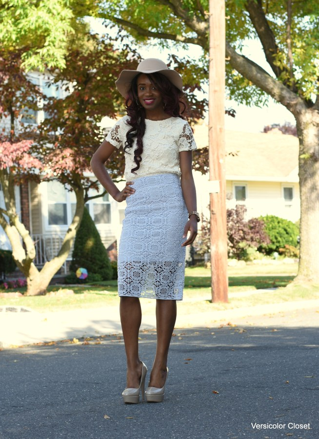 Lace skirt & lace top (8)