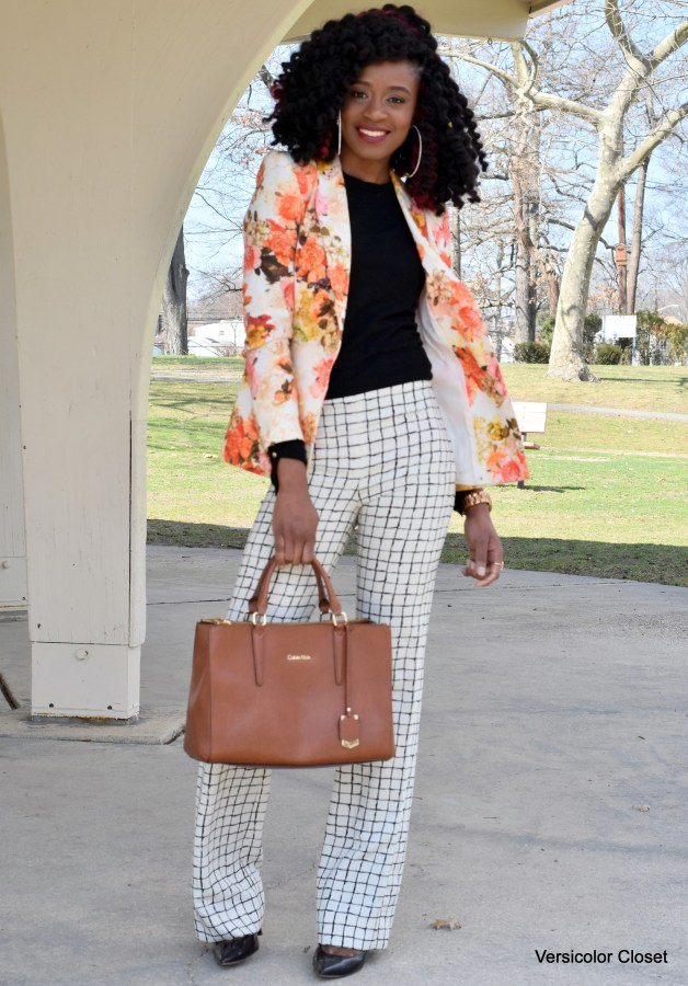 Floral blazer & Striped trousers (4)