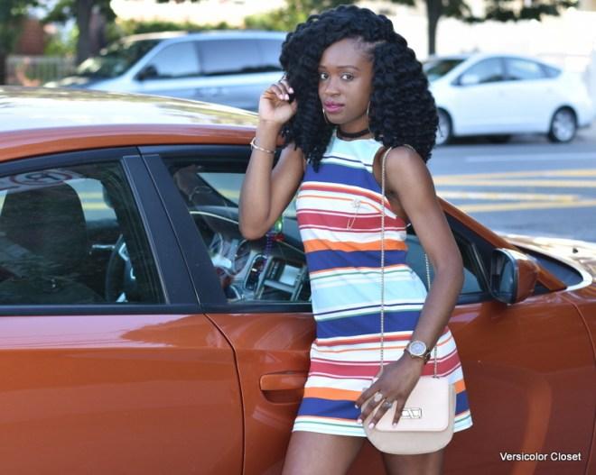 Striped dress & gladiator heels (10)