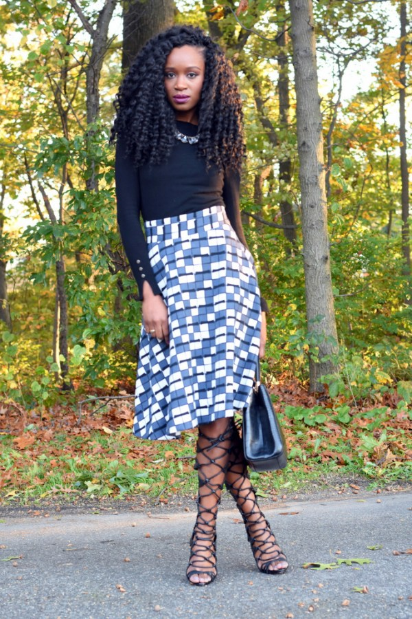 skater-skirt-faux-leather-jacket-gladiator-heels-13