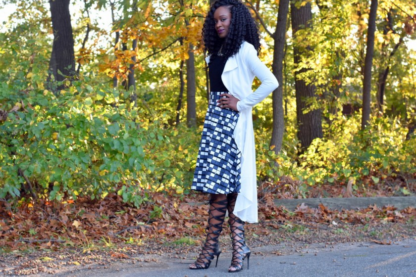 styling-a-skater-skirt-with-a-flowy-blazer-1