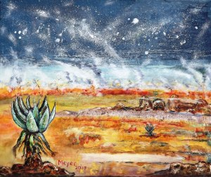 'Veldfire and Aloes ii'. Meyer van Rensburg