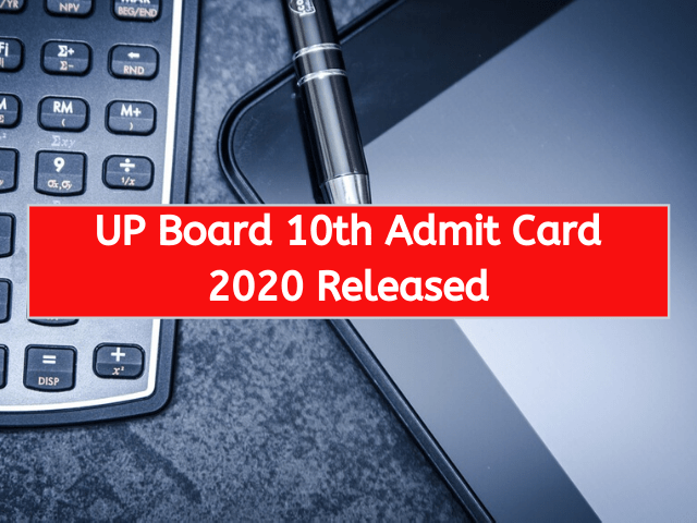UP Board 10th Admit Card 2020 Released