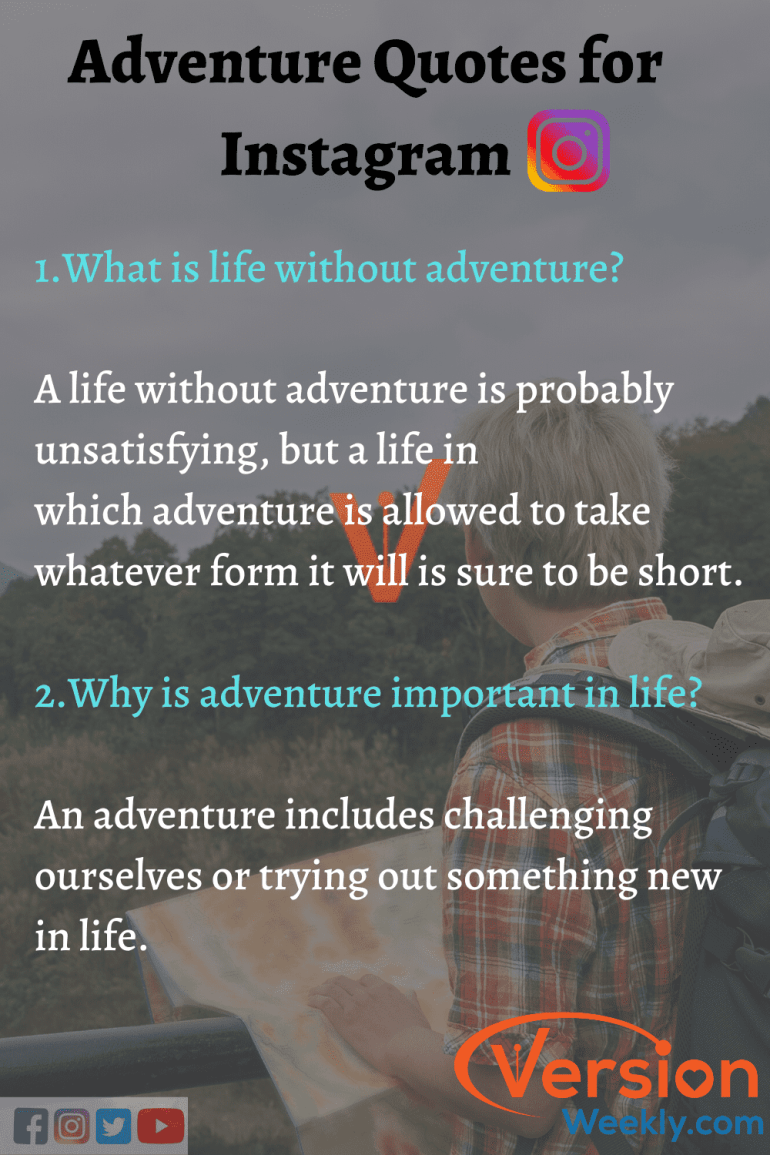 Adventure quotes for IG