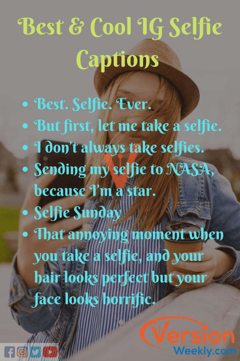 Best IG Selfie Quotes & Captions