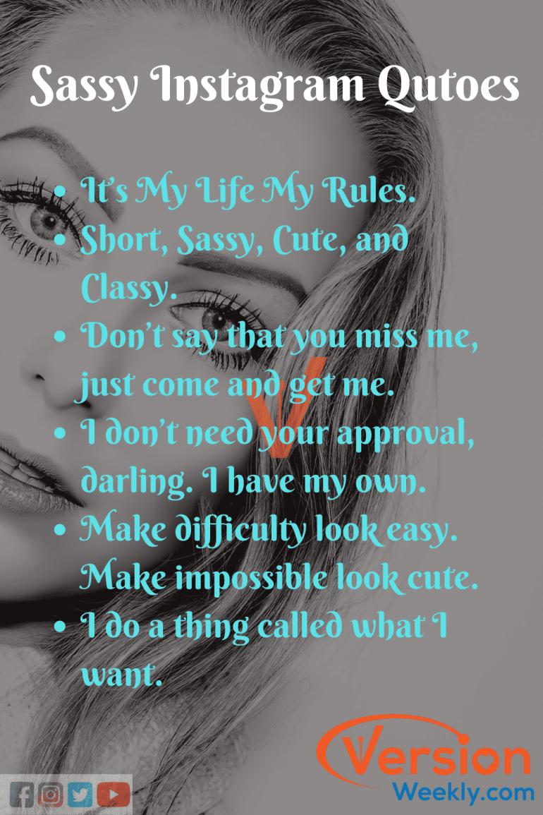 Best sassy instagram captions for girls