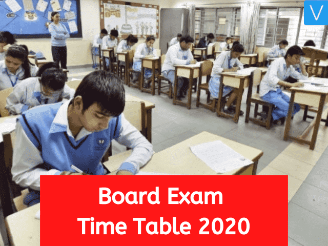 Board Exam Time Table