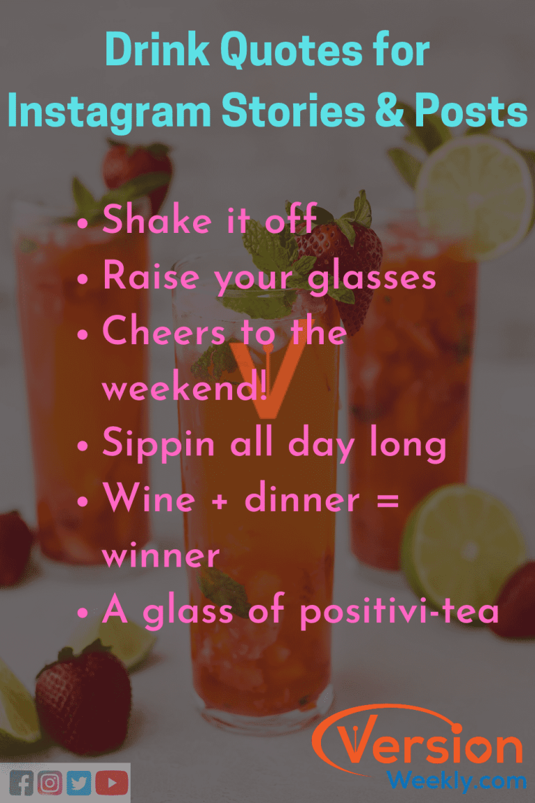 Instagram quotes for drink quotes