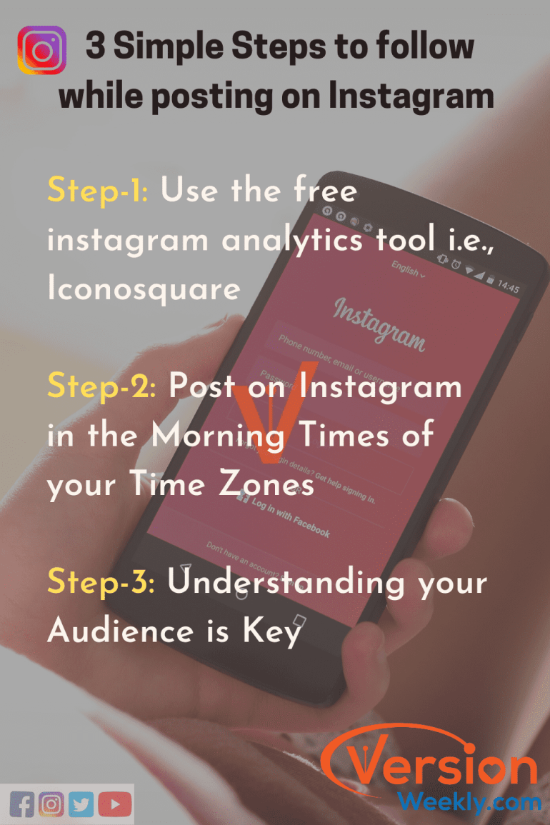 Steps to findout best times to post on Instagram