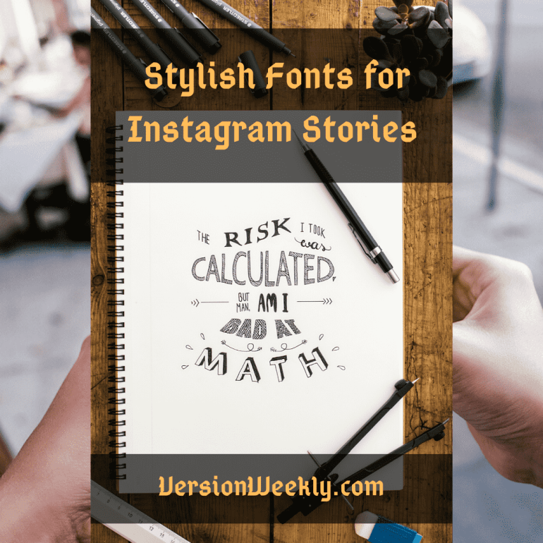 Stylish fonts for instagram stories