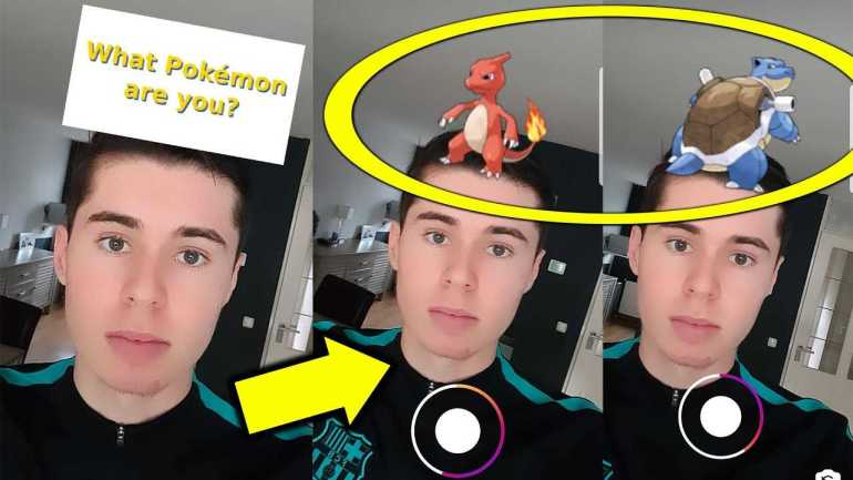 What Pokemon are you Instagram Filter to kill quarantine boredom