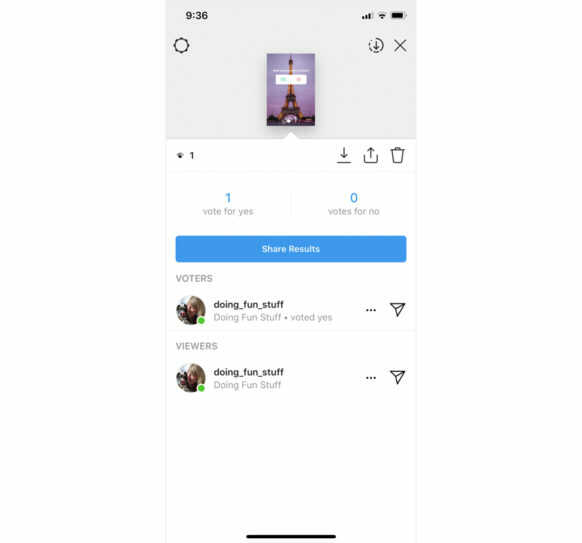How to view Instagram Poll Results