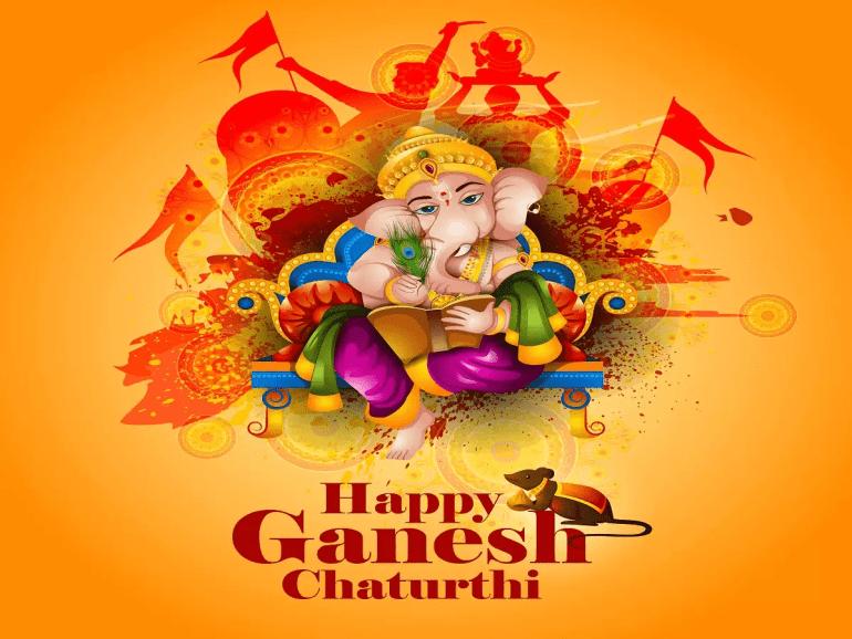 Happy ganesh Chaturthi HD wall paper