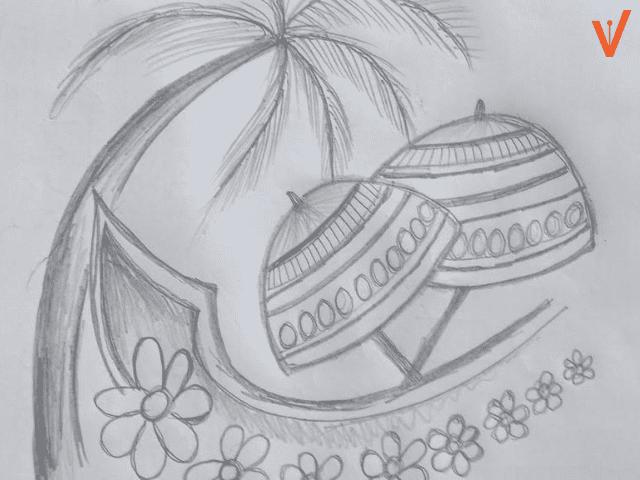 Onam special Pencil Sketches