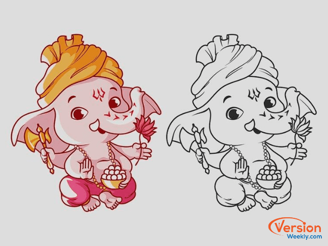 Easy Ganesh Chaturthi Drawings Simple Creative Vinayaka Chavithi Drawing Painting Sketches Ideas For Kids Version Weekly