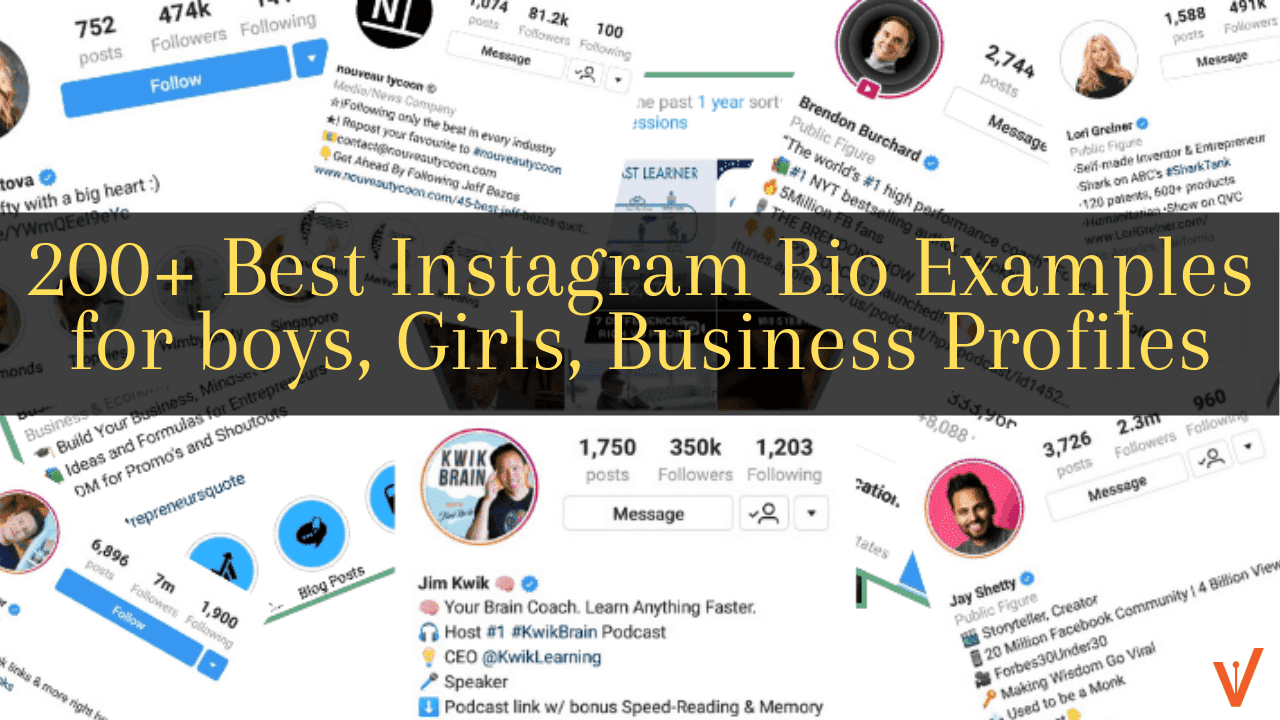 200 Instagram Bio Examples You Can Copy And Paste Best Good Cute Clever Creative Ig Bio Ideas 2020 Version Weekly