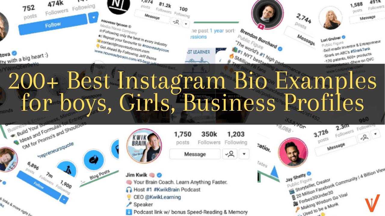 200+ Instagram Bio Examples