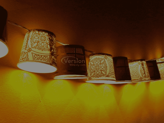 Diwali home decor with cup lights