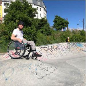 Pierre auf dem Skater-Platz
