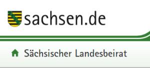 Webseite sachsen.de über den Landesbeirat